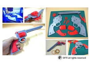 Rubber Band Gun / 左輪橡皮筋槍(加長版)