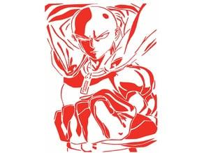 Saitama stencil 3