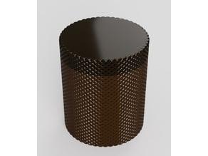 Plain or templar symbol box with screwed top