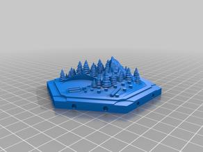 Catan 3D new wood hex