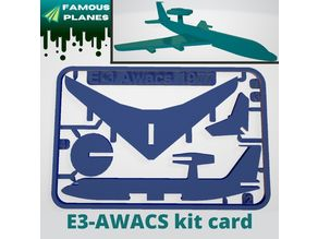 FAMOUS PLANES - E3 Awacs kit card