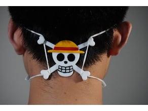 luffy jolly roger ear guard(Face Mask Hook)