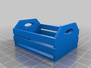 Wooden Apple Crate (Quarter Scale / 28mm)