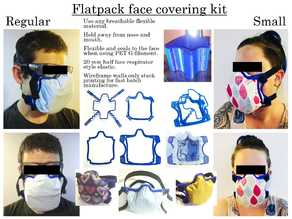 Flat Pack Face Covering Kit / Fabric Mask. Fast Batch Stack Print