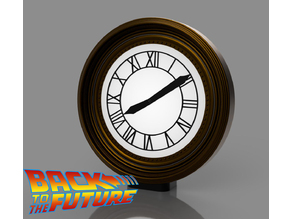 Carlz Back To The Future Tower Clock + Display Stand