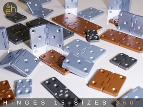 Hinges 360° - 15 Sizes, All Purpose, Print-in-Place