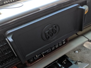 Magnetic Double Din Stereo Cover for Buicks or Roll Your Own