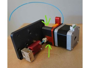 Dual Gear Extruder mount for 3DFused direct drive bracket
