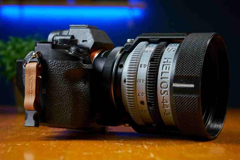 Helios-44-2 58mm f/2 Vintage Lens Rehousing EF mount Conversion & Compact version