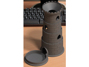 Jet another collapsible dice tower