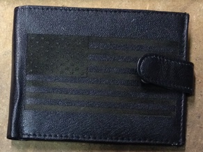 Laser-engraving of a wallet