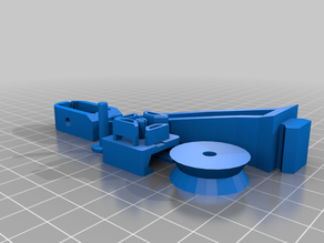 Filament feed roller guide for Ender 3