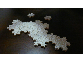Infinite Puzzle - Koch Snowflakes