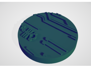 Circuit Board Effect Bases for Warhammer 40k (Necron)