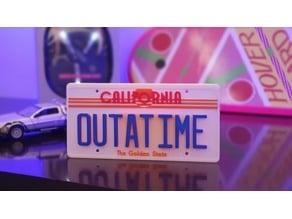Placa do filme De volta para o Futuro / Back to the future license plate