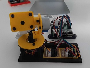 Raspberry Pi stepper motor gimbal
