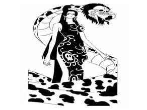 Boa Hancock stencil