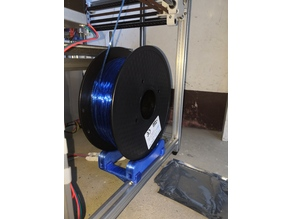 filament holder for 2020 extrusion/hypercube