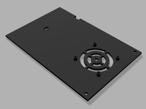Ender 3 main board cover for 50x10 mm fan