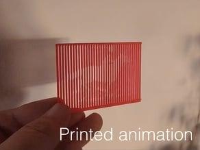 Muybridge horse. Printed animation