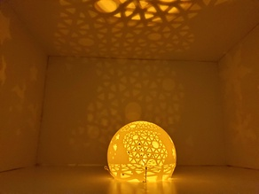 Series of perforated lamps