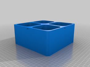 Box with round container and automatic clipping cover