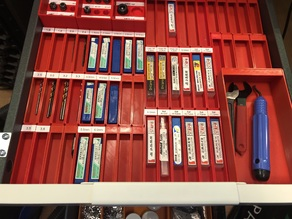 Desk drawer organization trays