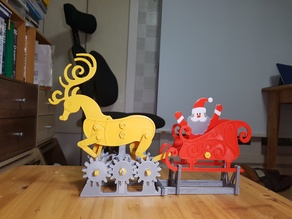 Santa and Rudolf Automata