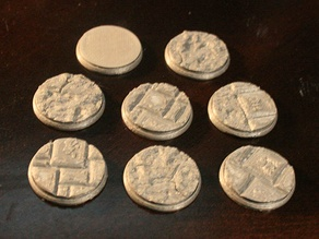 25mm Dungeon Floor Miniature Bases (x8) For Dungeons & Dragons and Other Tabletop Games