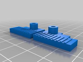 Creator Pro / Replicator / Duplicator X-Axis Carriage for E3D V6 Hot End (Riemen Mount)