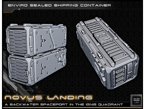 Scifi Shipping Container - 28-32mm gaming - Novus Landing