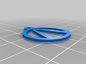 Boarderlands Vault Symbol Keychain/Pendant