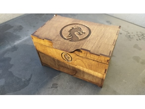 Mini chest. For jewelry storage. Laser cut.