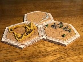 Catan Desert Variants For Dakanzla 2.0 Magnetic Base Set