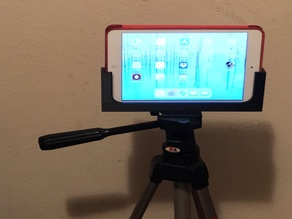 Tripod holder for iPad or iPhone with or without a case