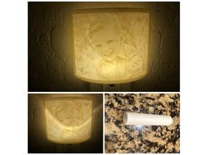 Litho Light Bulb Tube Shade V1