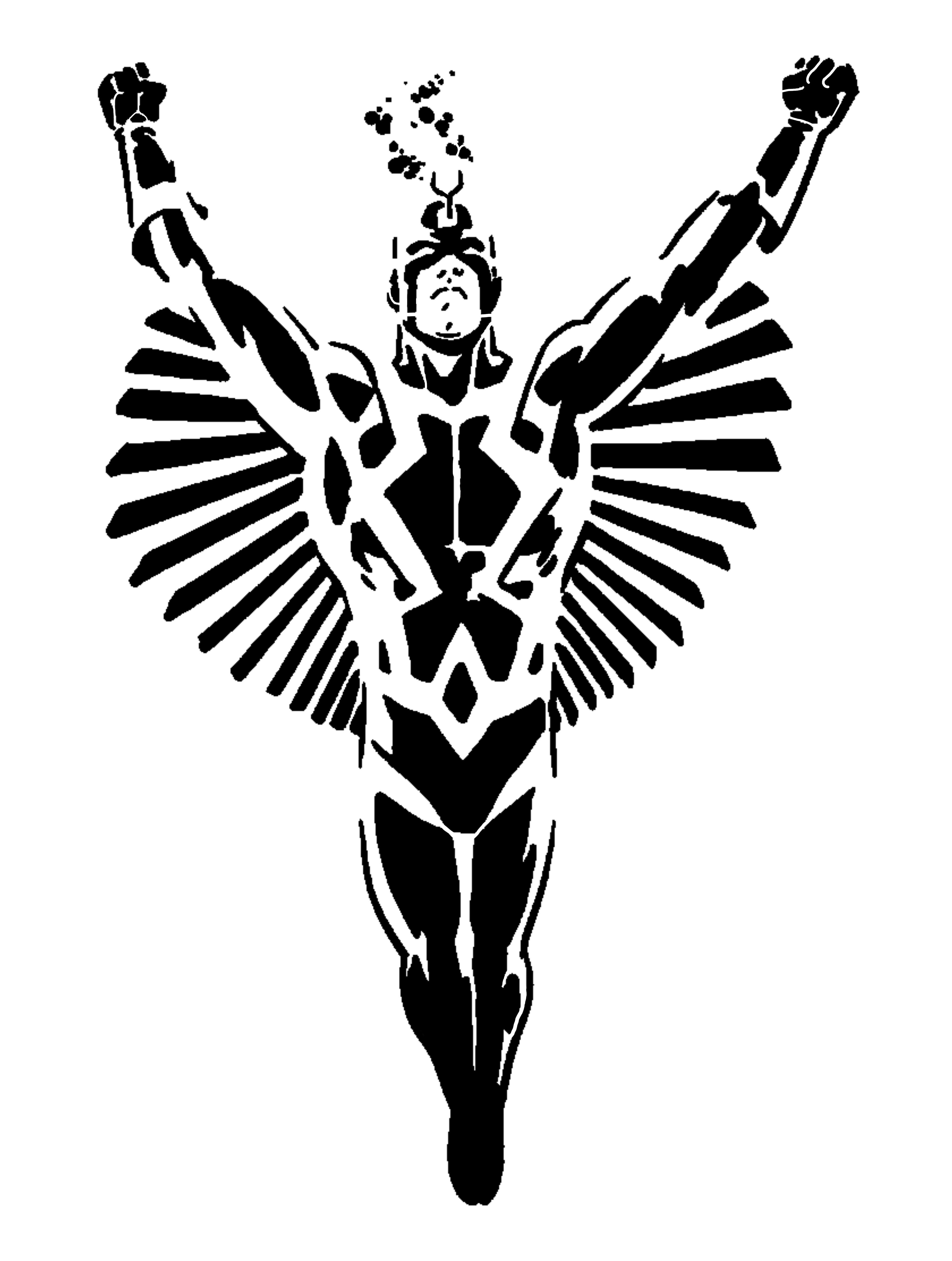 Black Bolt stencil