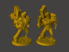 Rocket Launcher Banana Space Knight in Power Armour