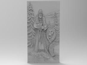 Veles, slavic god. Ancient Rusland.