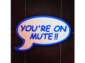 """Video call """"on mute"""" etiquette sign"""