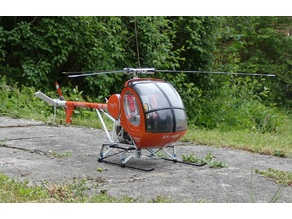 Schweizer 300C Hughes 269 Helicopter scale parts