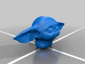 Baby Yoda Lifesize Head