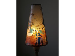 Antarctic Penguins Color Photograph lamp skirt theme for Tin Lamp