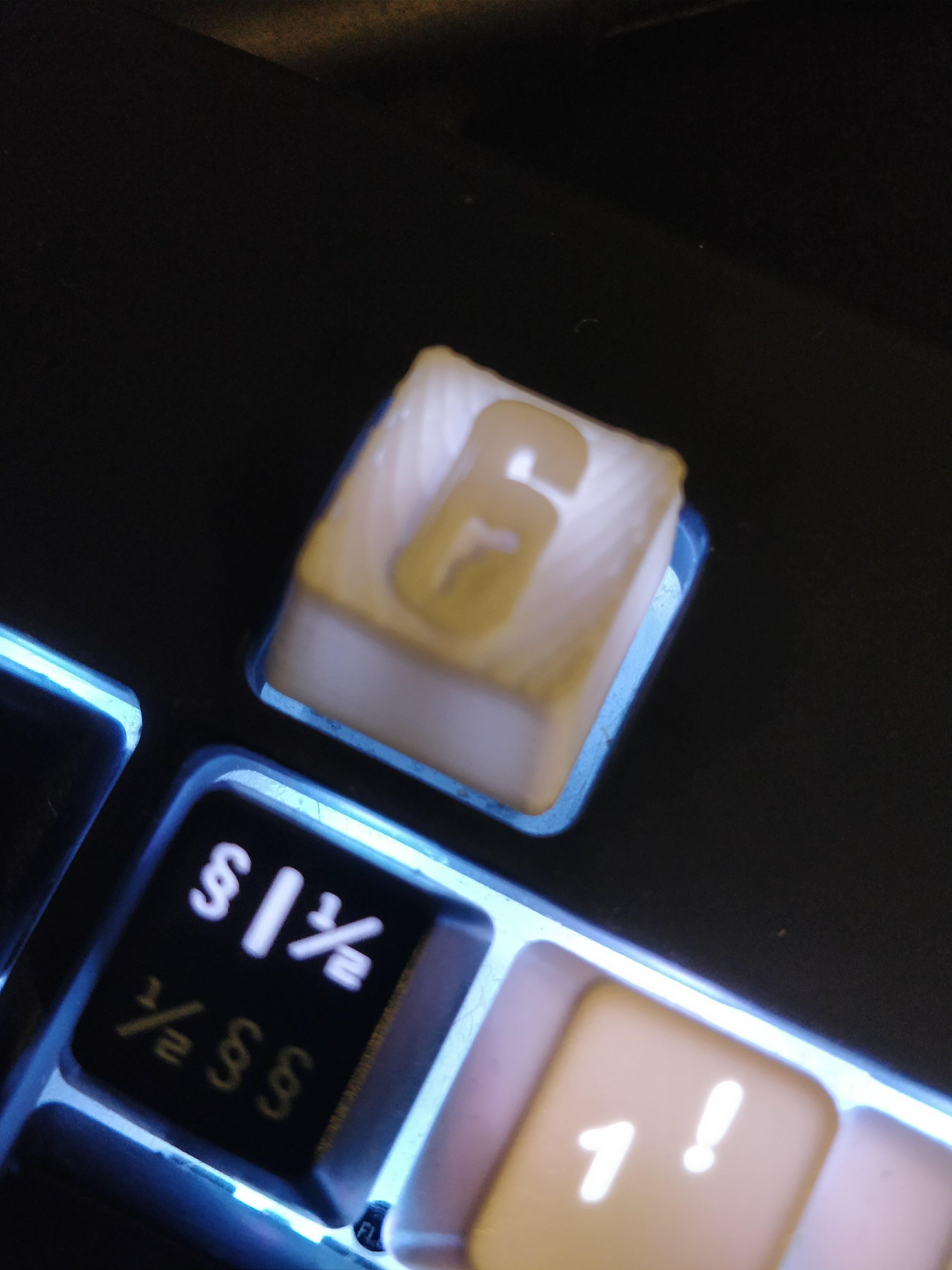 rainbow six siege mechanical keyboard mx cherry key cap by ldahlstrom