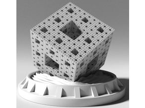 Menger Sponge iterations 2 to 5
