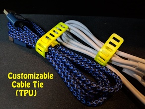 Customizable (Clip-on) Cable Tie (TPU)