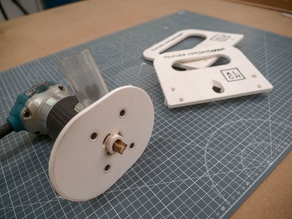 3D printet router template for drawer handles