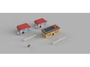 3D printable Pallet Town [ Pokemon! ]