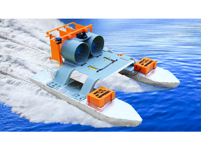 RC Airboat - Two Fan Engines