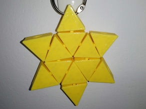Articulated hexagonal star